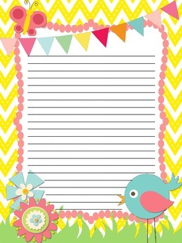 Spring Themed Writing Pages