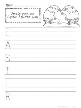 Spring Themed Writing Pages and Prompts