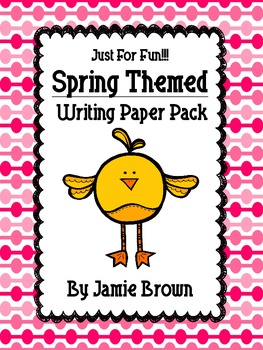 Spring Themed Writing Paper Pack (HWT and traditional style lines included)