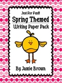 Spring Themed Writing Paper Pack (HWT and traditional styl