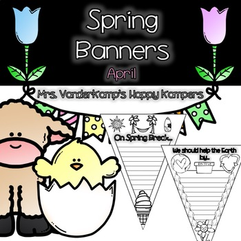 Spring Themed Writing Pennants [[Earth Day Included!]]