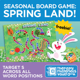 Late 8 Spring Board Game: Practice /s/ Across All Word Positions