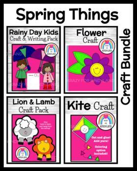 Spring Craft Pack: Kite, Flower, Lion/Lamb, Rainy Day Kids