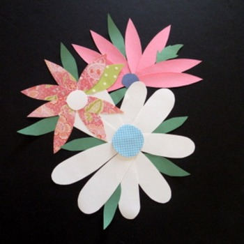 """""""Spring Things"""" Cut Paper Craftivity and Writing prompt"""