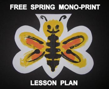 """""""Spring Things"""" Easy-art Mono-Print"""