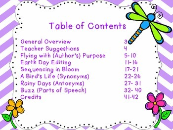 Spring Things (Literacy Activities for Bigger Kids)