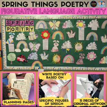 Spring Things Poetry: Figurative Language Activity and Bulletin Board