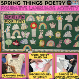 Spring Things Poetry: Figurative Language Activity and Bul