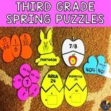 Spring 3rd Grade Math Puzzles