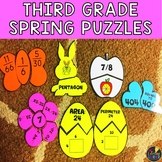 Spring Third Grade Math Puzzles