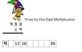 Spring Three Digit by One Digit Multiplication with Touchpoints