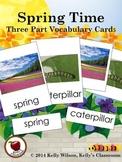 Spring Three Part Vocabulary Cards
