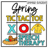 Spring Tic Tac Toe Boom Cards | Speech Therapy | Articulation