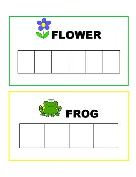 """Spring """"Build a Word"""" All CAPS Cards"""