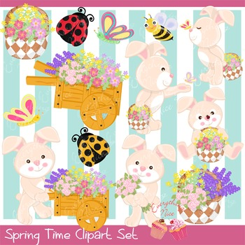 Spring Time 2 Clip Art Set