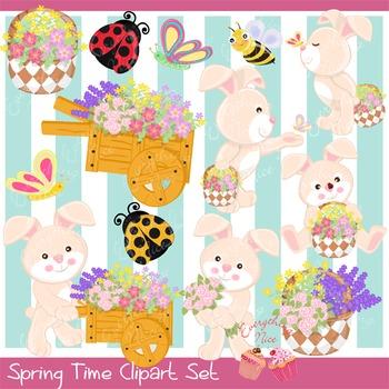 Spring Time 2 Clip Art Set