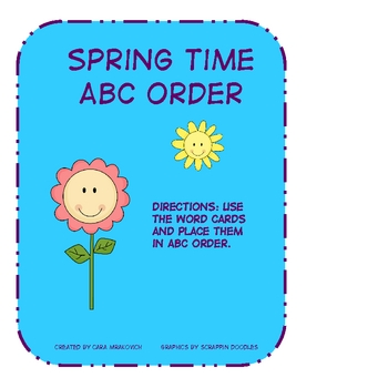 Spring Time ABC Order