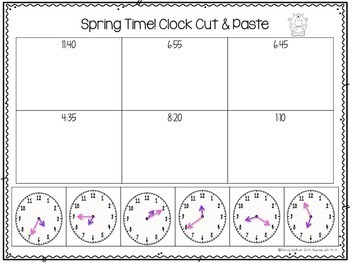 Spring Time Activity Pack: to five minute increments