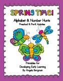 Spring Time - Alphabet and Number Hunt Pack