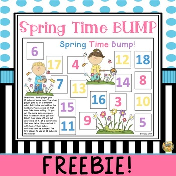 Spring Time Bump - Adding 3 numbers together - Great Game!