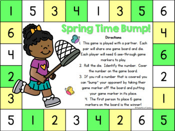 Spring Time Bump! Number Recognition Game
