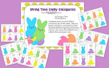 Spring Time Candy Categories