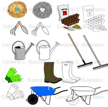 Spring Time Clip Art Set
