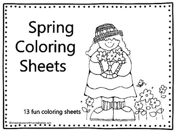 Spring Time Coloring Sheets