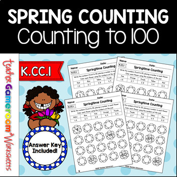 Counting to 100 Worksheet - Spring