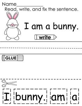 Spring Time Cut-Up Sentences