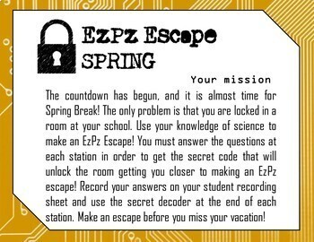 Spring Time Escape Room- Science Digital Breakout