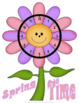 Spring Telling Time Game to 5 Minutes