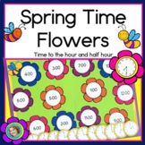 Spring Time Flowers: Telling time to the half hour, first grade math
