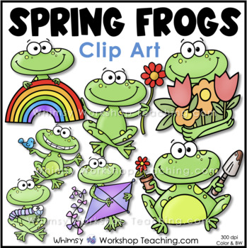 Spring Time Frogs Clip Art