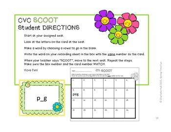 Spring Time Fun: CVC Word Work