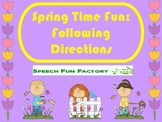 Spring Time Fun - Following Directions