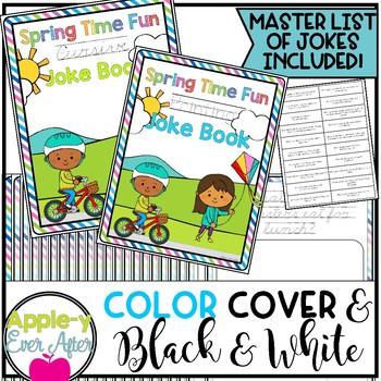 Spring Time Fun PRINTING AND CURSIVE Joke Book Bundle