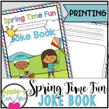 Spring Time Fun PRINTING Joke Book Bundle