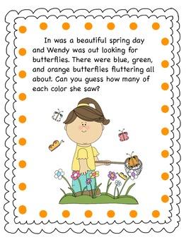 Spring Time Fun:  Problem Solving Activity K - 2