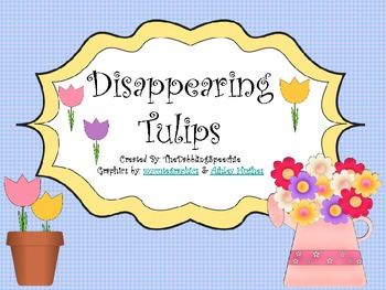 Spring Time Fun with Disappearing Tulips Math Game