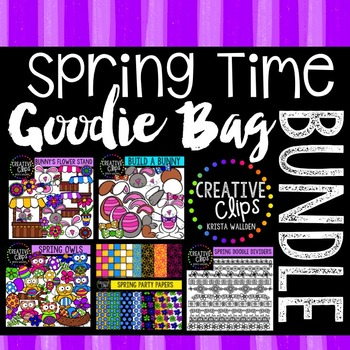 Spring Time Goodie Bag Bundle {Creative Clips Digital Clipart}