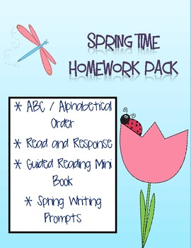 Spring Time Homework Pack