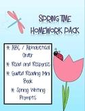 Spring Time Homework Pack