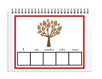 Spring Time  I See Sentence Strip ASL Sign Language Addition {Pre-K/Elementary}