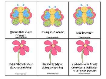 Spring Time Idioms Activity Pack