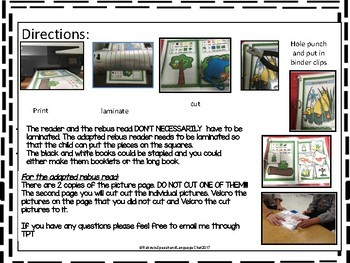Spring Time Interactive Adapted Book, preschool, special education, kindergarten