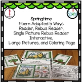 Spring Time Interactive Adapted Book, preschool, special e