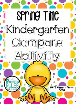 Spring Time Kindergarten Comparing Numbers Activity