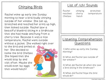 Spring Time Listening Comprehension and Articulation Pack