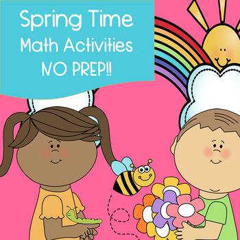 Spring Time Math Activities - NO PREP!!
